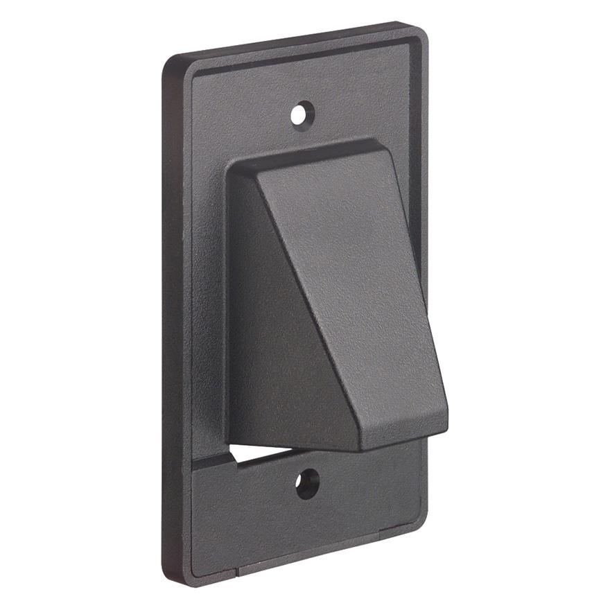 Arlington Model CER1 Single Gang Wall Plate with Detachable Bottom