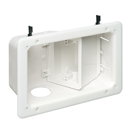 Three-Gang Recessed TV Box Kit, White by Legrand