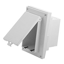 Arlington Model DBVR141W  In Box™ Siding Profile Adapter Plate, white