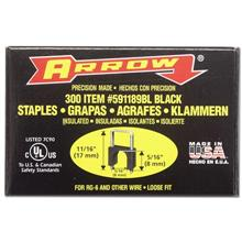 Arrow T-59 Insulated Staples, Black, 5/16in, qty300 ARRT59S