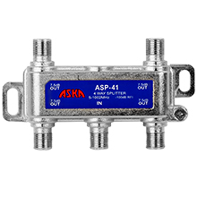 ASP-41 D.A. Splitter, 4 way ASK1015