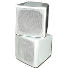 Choice Select 4in Stacked Surround Speaker, White, 8 ohm, each