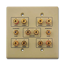 Choice Select Dual Gang 5.2 Home Theater Wall Plate, ivory CHO2003I