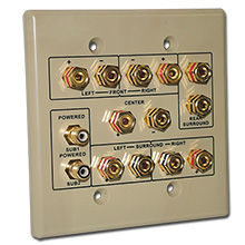 Choice Select Dual Gang 6.2 Home Theater Connection Wall Plate, ivory CHO2006
