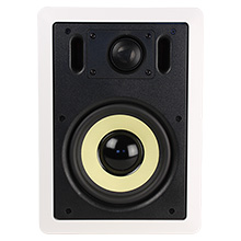 Choice Select 6.5in In-Wall Speaker w/back cover, White, pair