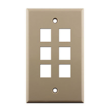 KEYSTONE WALL PLATE FOR 6 CON3006I
