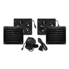 Cool Components PK-HFL-BLK HIFLO Vent Package, black COOL2015