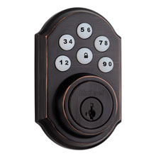 Kwikset Smartcode Deadbolt with Z-Wave; Venetian Bronze