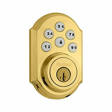 Kwikset Smartcode Deadbolt with Z-Wave; Polished Brass