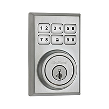 Kwikset Contemporary Smartcode Deadbolt with Z-Wave; Satin Chrome