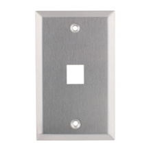 WP3401-SS 1-Port Wall Plate LGR1075