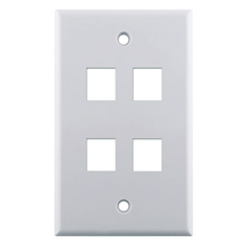 WP3404-WH 4-Port Wall Plate LGR1078