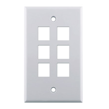 WP3406-WH 6-Port Wall Plate LGR1079