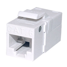 Platinum Tools 706WH-1EZ SNAPJACK for  Cat6 Keystone, White, each PLA1022