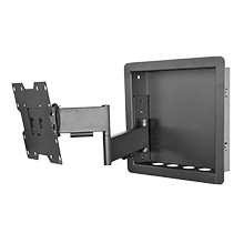 Royal Mounts In-Wall Articulating Mount for Small 23-40 Displays (Black)