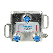 Skywalker Signature Series Vertical 2-Way 5-2300MHz Splitter DC/IR All Port SKY25302