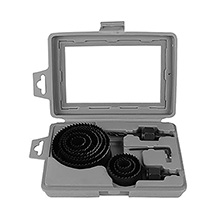 TerMight Series 9 Piece Wood Hole Saw Set with Plastic Case TMT8013