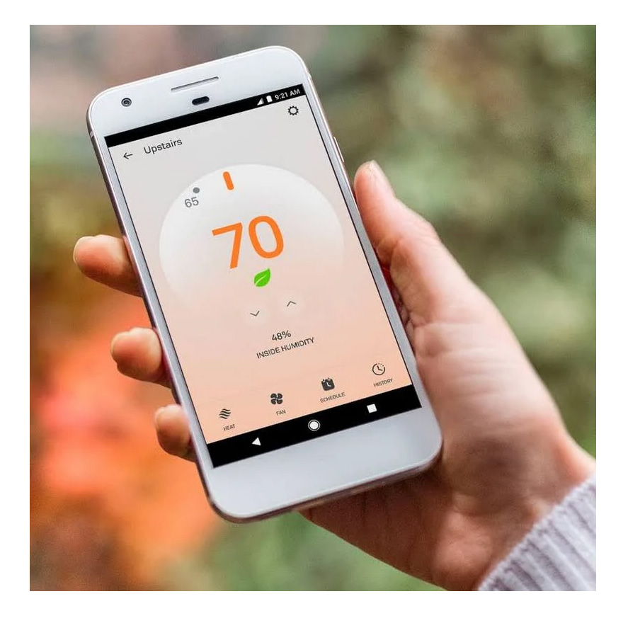 Nest E Thermostat And Google Home Hub Kit  White